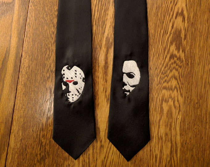 Horror Ties v1 (michael, myers, halloween, the shape, jason, voorhees, friday the 13th, horror, movie)
