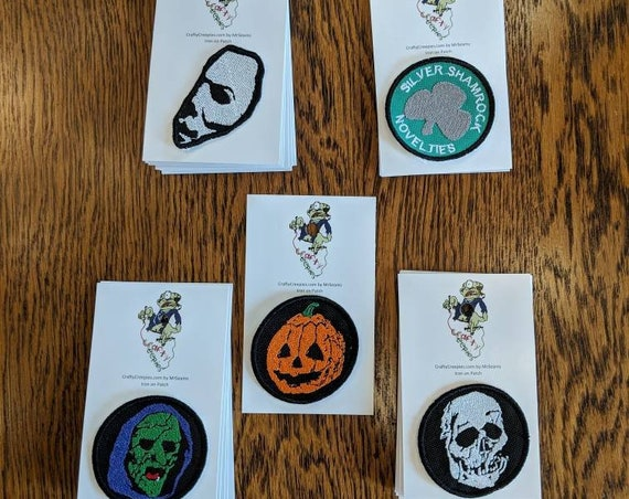 Horror Patches 2 (michael, myers, halloween, the shape, jason, voorhees, friday the 13th, horror, movie)