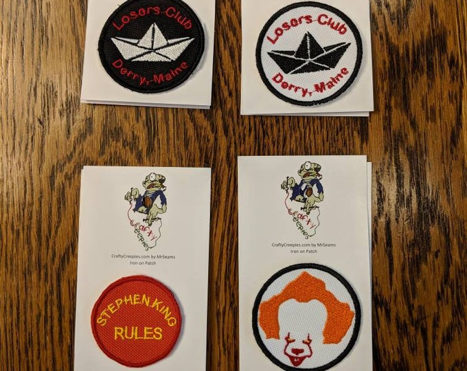 IT Patch (Pennywise, you'll float too, Stephen King, clown, losers club)