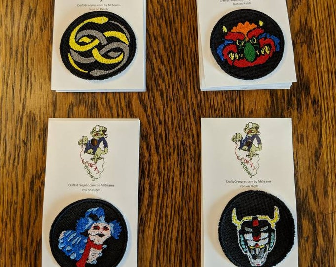 Throwback Patches (thundercats, never ending story, labyrinth, my pet monster)