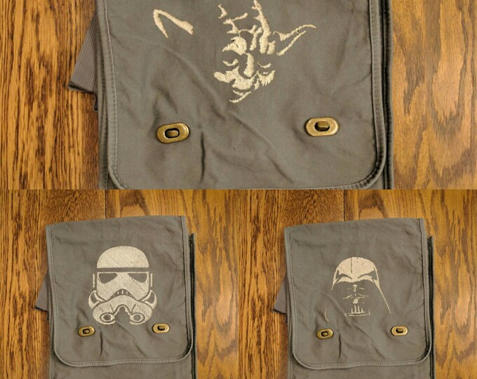 Custom Star Wars Messenger Bag (Yoda, Darth Vader, Stormtrooper)