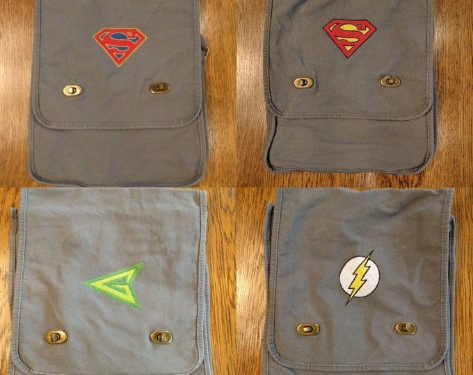 Custom Comic Messenger Bag v3 (comics, comicbook, comic, marvel, dc, superman, the flash, green arrow)