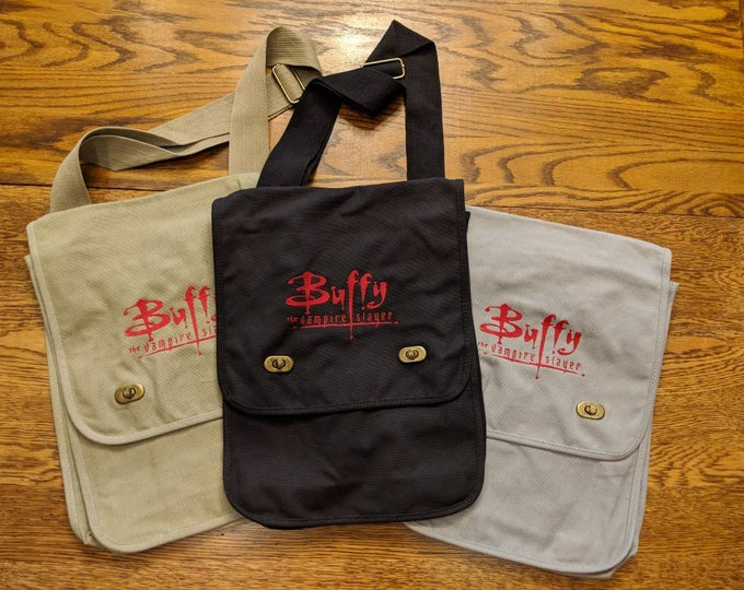 Buffy The Vampire Slayer Messenger Bag (vampires, 80s, 80s kids, vampire, throwback, throw back, Mr pointy)