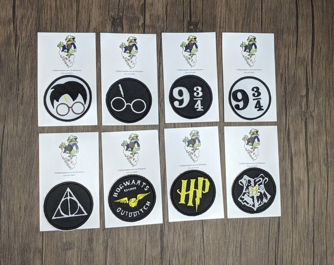 Harry Potter Patches (Harry Potter, hogwarts, ministry of magic, mischief managed, dumbledore, quidditch, hp)