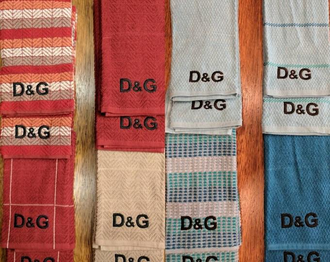 Monogram Hand Towel Set (2, embroidered) (towel, lgbt, monogram, monogrammed, initials, personalized, hand towels. bath towels, towel set)