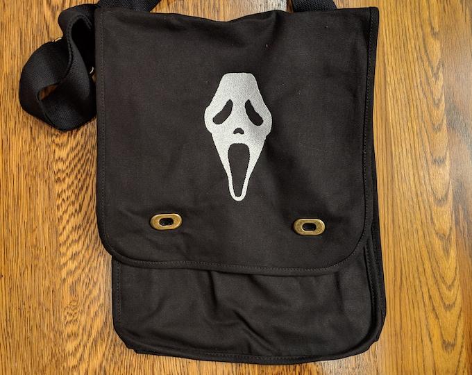 Custom Horror Messenger Bag (scream, ghost face)