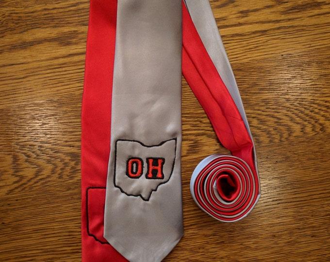 OH Tie (osu, ohio state, OH, buckeye, buckeyes, big 10, the ohio state, necktie)
