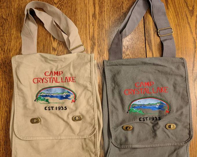 Featured listing image: Custom Horror Messenger Bag (Camp Crystal Lake)