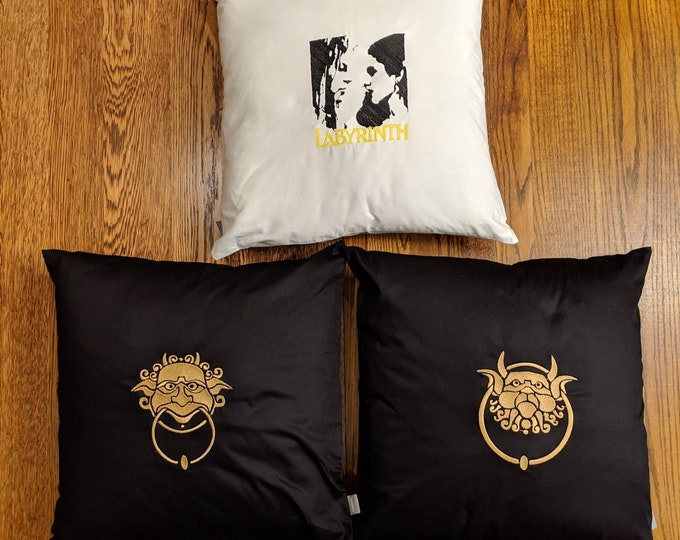 Custom Labyrinth Pillow (Labyrinth, knockers, jim henson, david bowie)