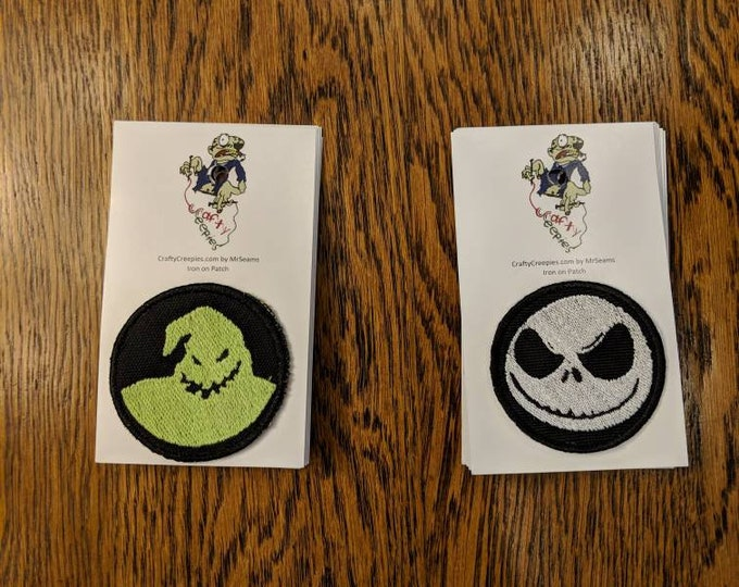 Holiday Patches (Nightmare Before Christmas, Jack Skellington, Halloweentown)