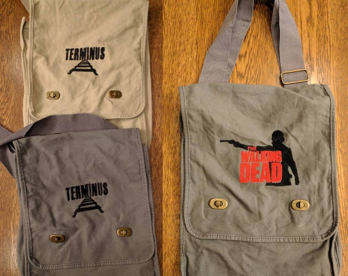 Zombie Messenger Bag (TWD, The Walking Dead, Terminus, Dawn of the Dead)