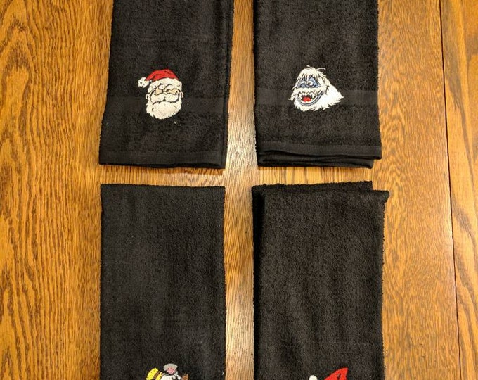 Christmas Towel Set  (2 hand towels, embroidered)