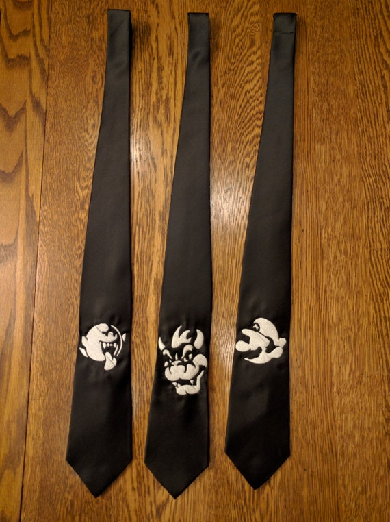 Custom Gamer Ties v2 (mario, brothers, bowser, boo, gaymer, fun ties, kart, smash, gamer)