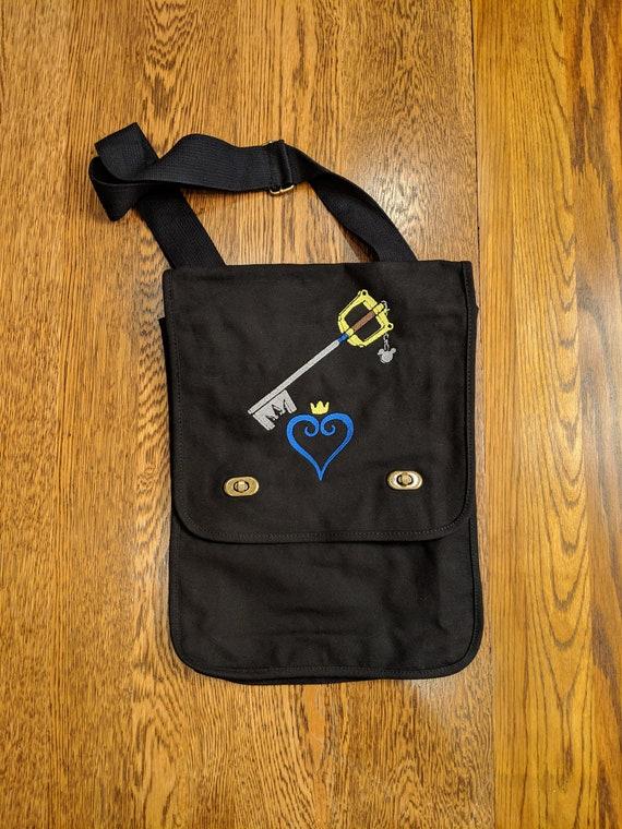 Custom Gamer Messenger Bag (Kingdom Hearts, Keyblade, Sora)