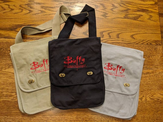 Buffy The Vampire Slayer Messenger Bag (vampires, 80s, 80s kids, vampire, throwback, throw back, Mr pointy)