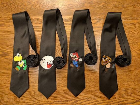 Custom Gamer Ties v3 (mario, brothers, goomba, koopa, boo, gaymer, fun ties, kart, smash, gamer)
