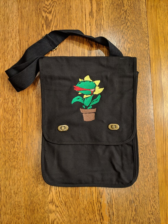 Custom 80s Kid Messenger Bag (Little Shop of Horrors, Seymour)