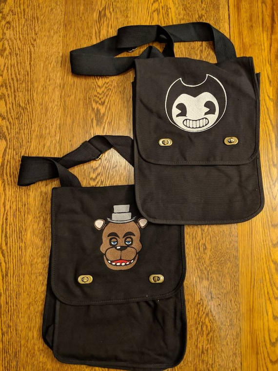 Gamer Messenger Bags (Five nights at Freddy's, Bendy and the ink machine, gaymer, gamer, games, game, geek, nerd)