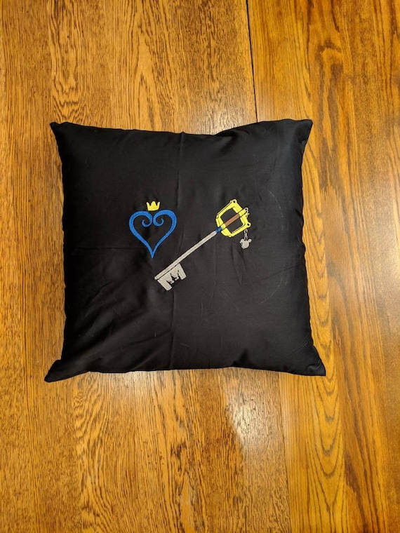Custom Gamer Pillow (Kingdom Hearts, Keyblade, Sora)