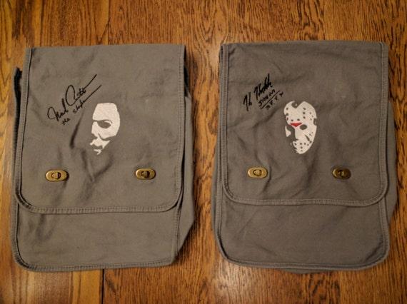 Custom Horror Messenger Bag (w/embroidered autograph)