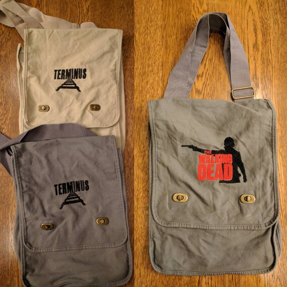 Zombie Messenger Bag (TWD, The Walking Dead, Terminus, Dawn of the Dead)