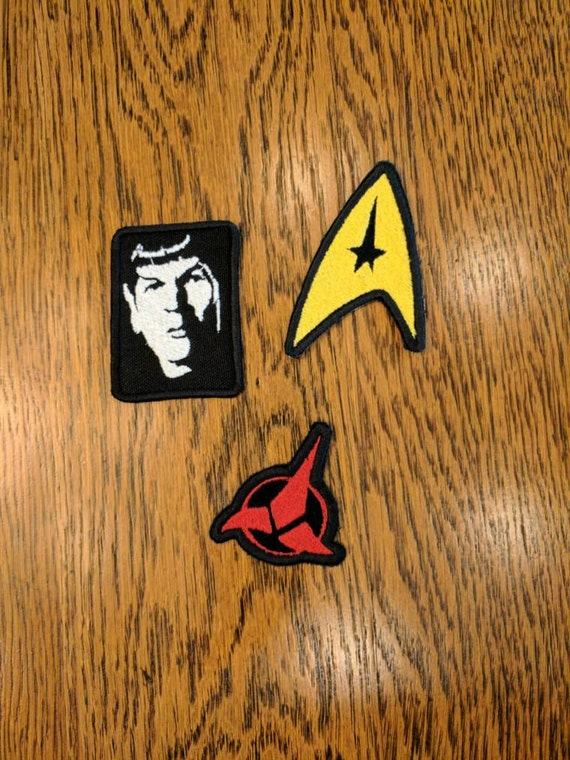 Star Trek Patches (live long and proper, spock, prosper, star trek, trekky, nimoy, klingon,scifi, fun)