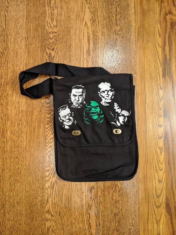 Custom Horror Messenger Bag (universal monsters, mummy, bride of frankenstein, frankenstein, creature from the black lagoon, dracula)
