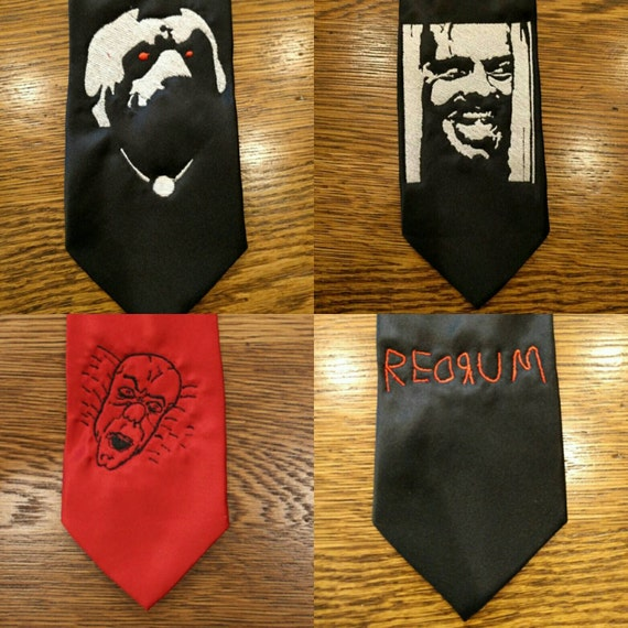 Stephen King Tie (Custom order) (redrum, the shining, shining, jack, stephen king, cujo, pennywise, necktie)