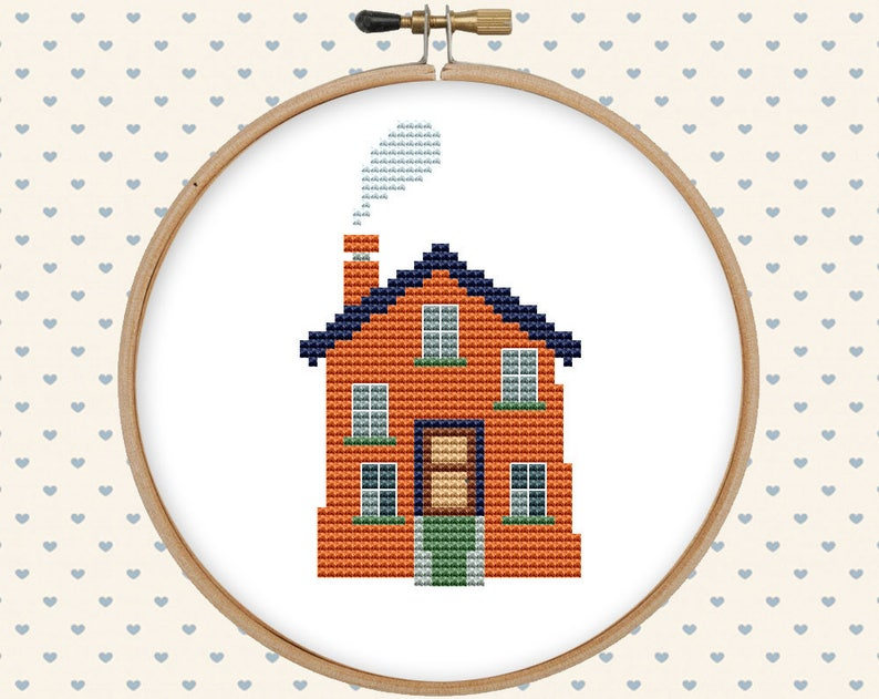 House counted cross stitch pattern PDF, home sweet home instant download,  instant download #CS94