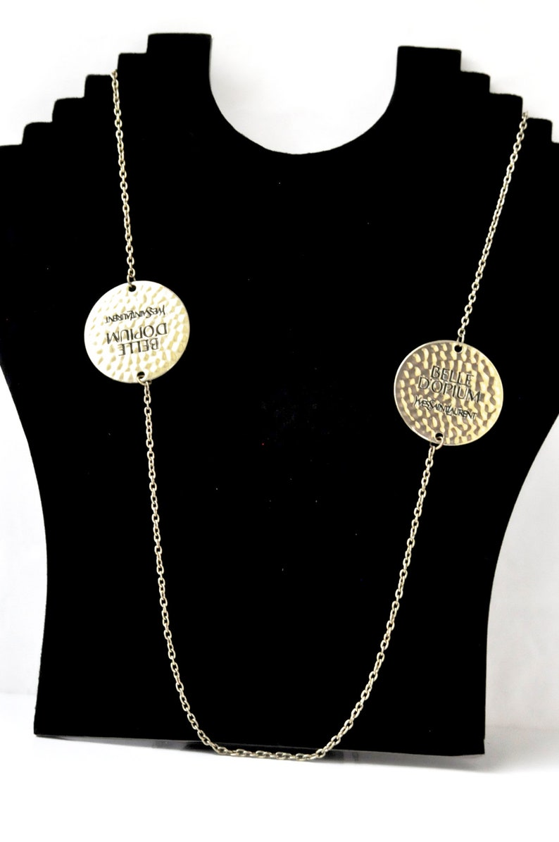 3b8f2ea6a72 Yves Saint Laurent YSL gold chain necklace Belle Opium | Etsy