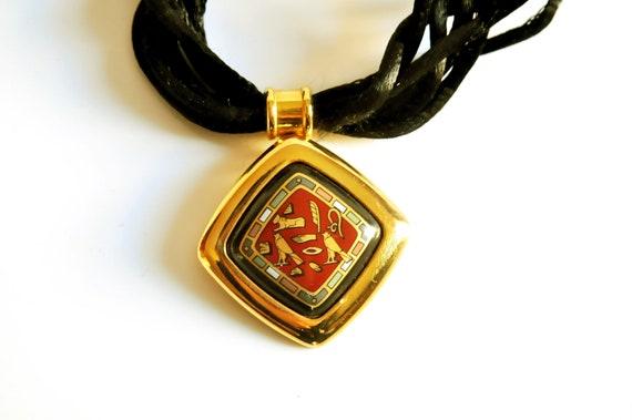 MICHAELA FREY Wien 24K Enamel necklace 1980s