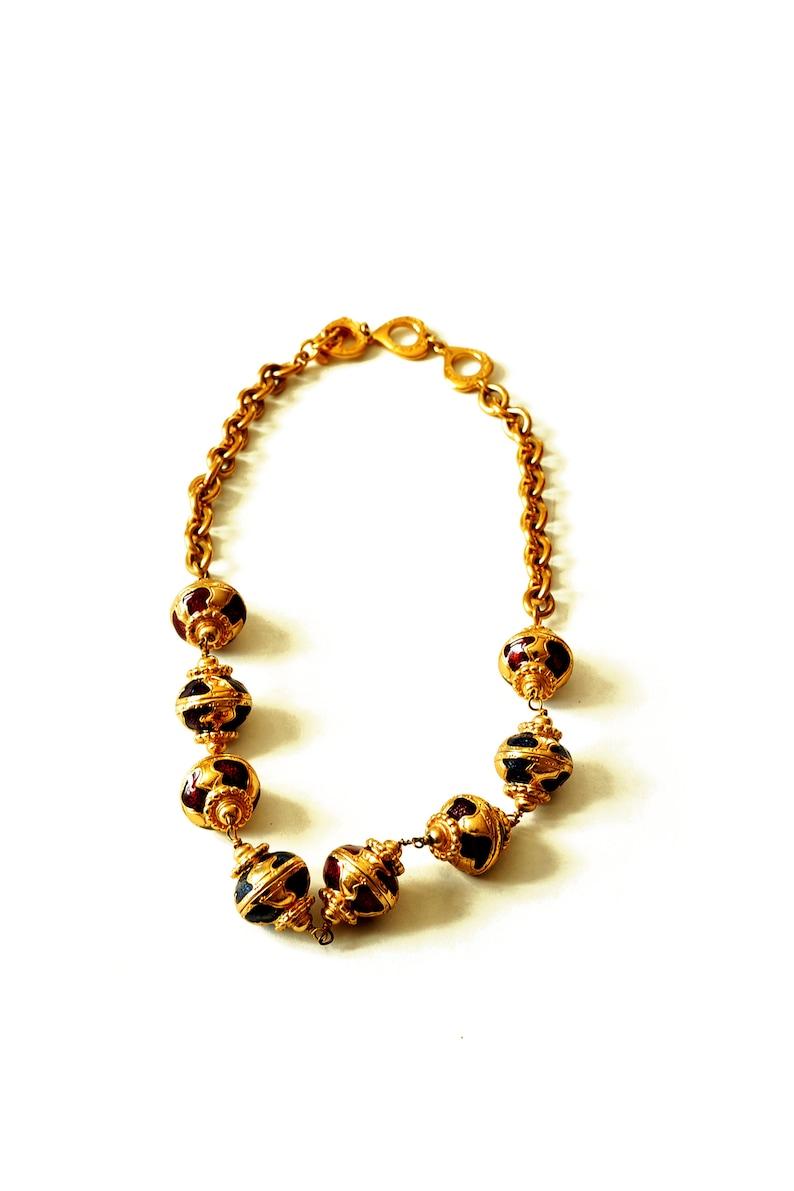 9dd384cf875 YSL vintage baroque necklace Yves Saint Laurent | Etsy