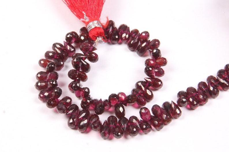 Garnet Smooth Beads Square Shape Beads Natural Garnet Beads