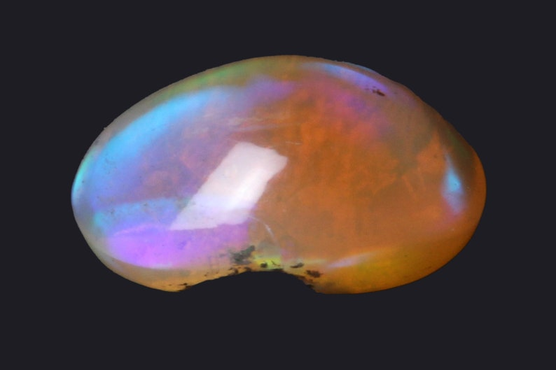 Natural Ethiopian Opal 5.48 Carat Oval Shape Undrilled Loose Gemstone  Size Is 10.50 x 15.90 x 7.40 MM Ethiopian Opal Loose Gemstone