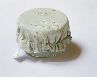Mini charlotte of bowl in floral linen - unit or batch