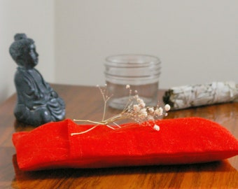 Pad of relaxation for the eyes - gift-relaxation - Yoga - organic flax - linen filling, amaranth or lavender
