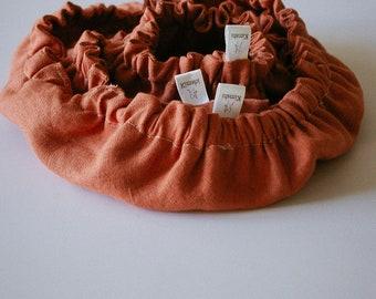 """Charlottes bowl trio in linen- color """"terracotta"""""""