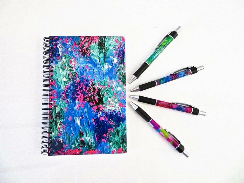 Rainbow Leopard Spiral Notebook,40th Birthday Gift,Gift For Her,Gift For Women,Best Friend Gift,Original Artwork,Original Painting
