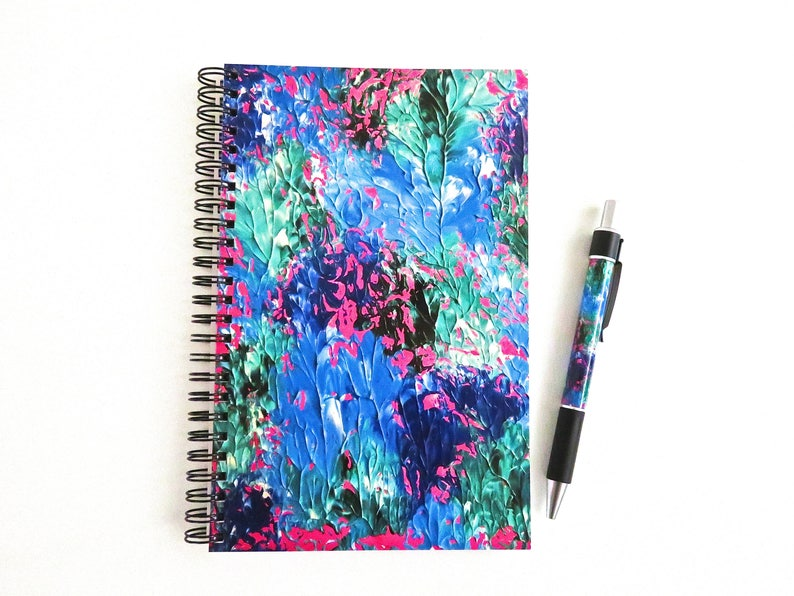 Colourful Notebook Matching Pen Set Stationery