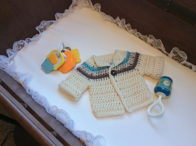 Chunky Baby Sweater Crocheted Baby Boy Sweater Baby Boy Etsy