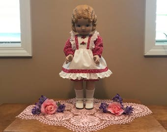 """Doll Clothes for 18"""" Doll, Doll Dress and Bloomers for 18"""" Doll """"Sweet Clementine"""""""