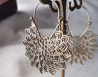 African gold hoop earrings tribal.geometric earrings celtic jewelry bohemian earrings boho bali hoops.girlfriend gift for women
