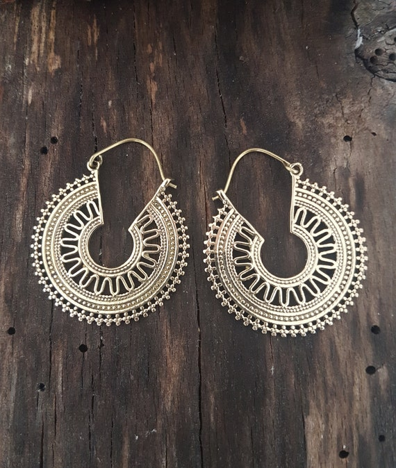 12 mm Creole Hoop Earrings So Chic Jewels 9k Yellow Gold