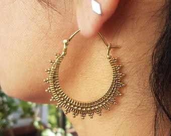 gold hoops earrings african jewelry dainty earrings dangle earrings bohemian jewelry ethnic earrings gold creole earrings boho.gift for mom