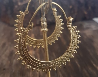 gold big hoops earrings boho earrings dainty earrings African earrings ethnic gold creole earrings geometric earrings.wife gift for mom