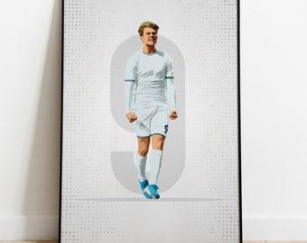 Patrick Bamford Leeds United Poster Photo Art Print Leeds Memorabilia