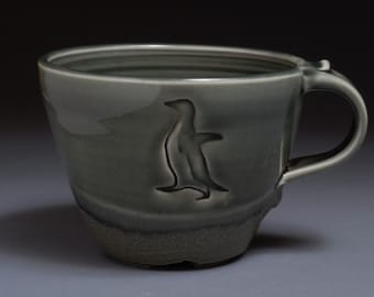 Awkward Penguin Latte Mug