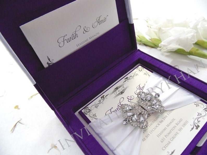 Wedding Invitation Box Luxury Invitations Boxed