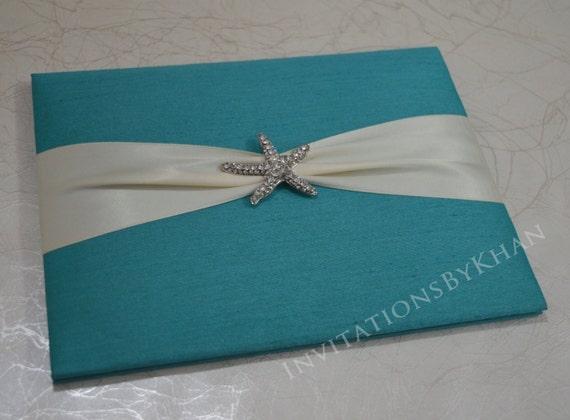 beach destination wedding invitation silk bi fold wedding etsy