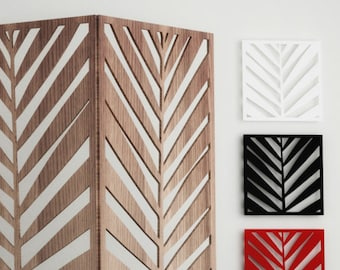 Palm LEAF SCREEN PANEL - cnc template cutting file, room divider,  wall panel, plasma cut, privacy screen, home design